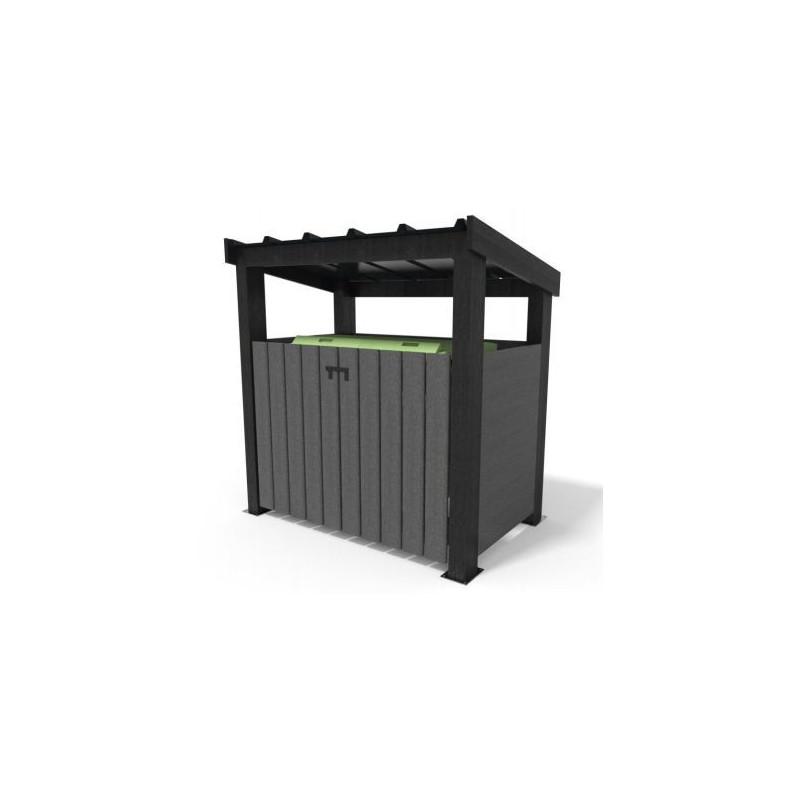 Abri simple pour conteneur en plastique recyclé