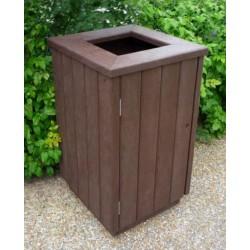 Corbeille extérieure carrée en recyclé