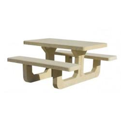Table pique nique béton Corail