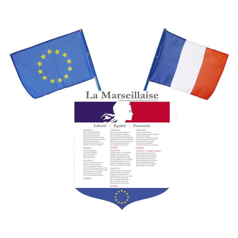 Lot écusson + drapeaux loi Peillon