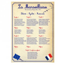 Affiche en PVC rigide Hymne National