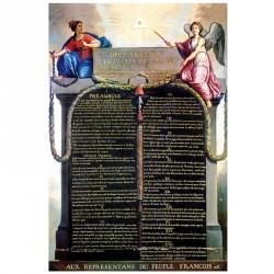 """Plaque intérieur """"Déclaration Universelle des Droits de l'Homme et du Citoyen"""" PVC ou PLEXI"""