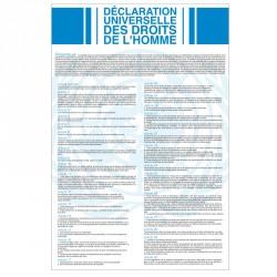 """Plaque intérieur """"Déclaration Universelle des Droits de l'Homme et du Citoyen"""" version classique"""