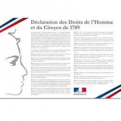 """Plaque des """"Plaque Déclaration des droits de l'Homme"""" en PVC ou PLEXI"""