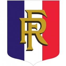"""Porte-drapeaux écusson tricolore + RF gamme """"Bon Plan"""""""