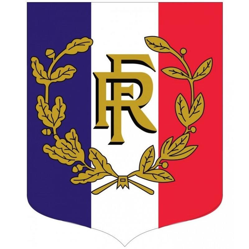 "Écusson tricolore + RF + palmes, gamme ""Bon Plan"""