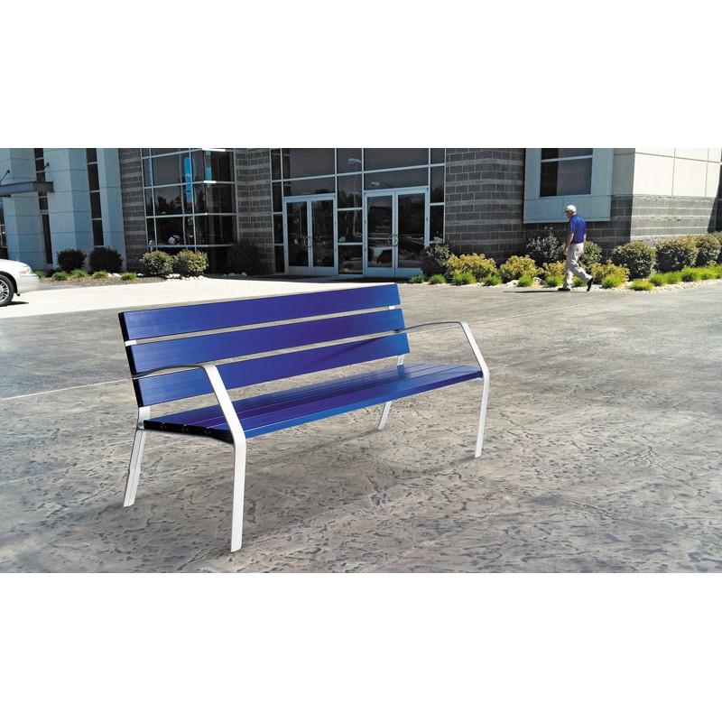 Banc Modo aluminium 180 cm bleu
