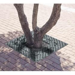Grille d'arbre en fonte, carrée