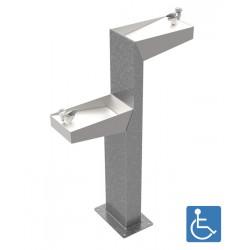 Fontaine à eau Minus, double robineterie PMR