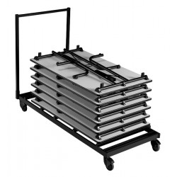 Chariot de transport pour tables pliantes rectangles