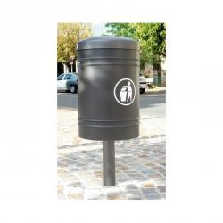 Corbeille de ville Guyenne sur pied central 40 litres