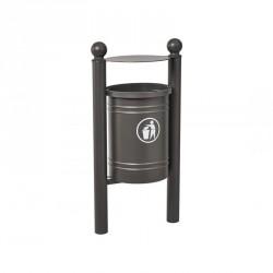 Corbeille publique en acier Saintonge 40 litres