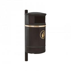 Corbeille publique indéformable Morvan 40 litres