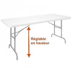 Table réglable et pliante de collectivité en polypro - DMC Direct
