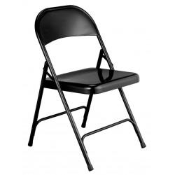 Chaise pliante EUROP noires en métal