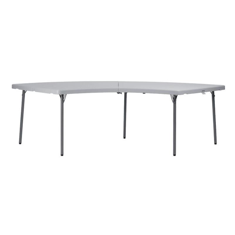 Table pliante en polypro quart de lune