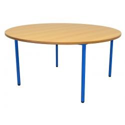 Table ronde de 120 cm sur 4 pieds en stratifié ou mélaminé