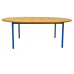 TABLE MATERNELLE OVALE FRIDA 4 PIEDS 120/150 X 90 CM