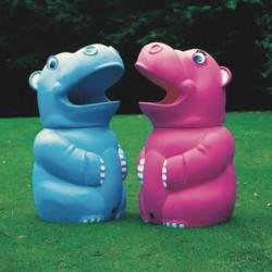 Corbeille ludique en polyéthylène Hippopotame