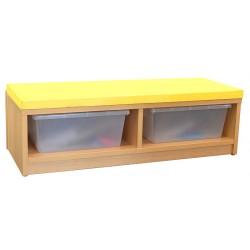 La banquette ou chauffeuse pour espace détente dans les crèches ou école maternelle.