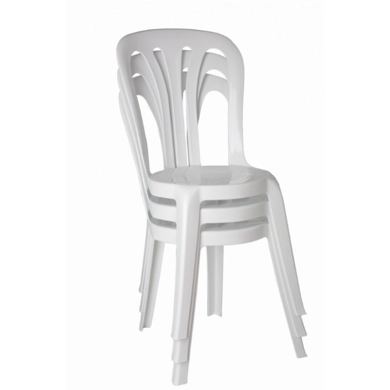 Chaise Blanche En Plastique Empilable Pour Les Collectivites Chaise Legere Et Solide