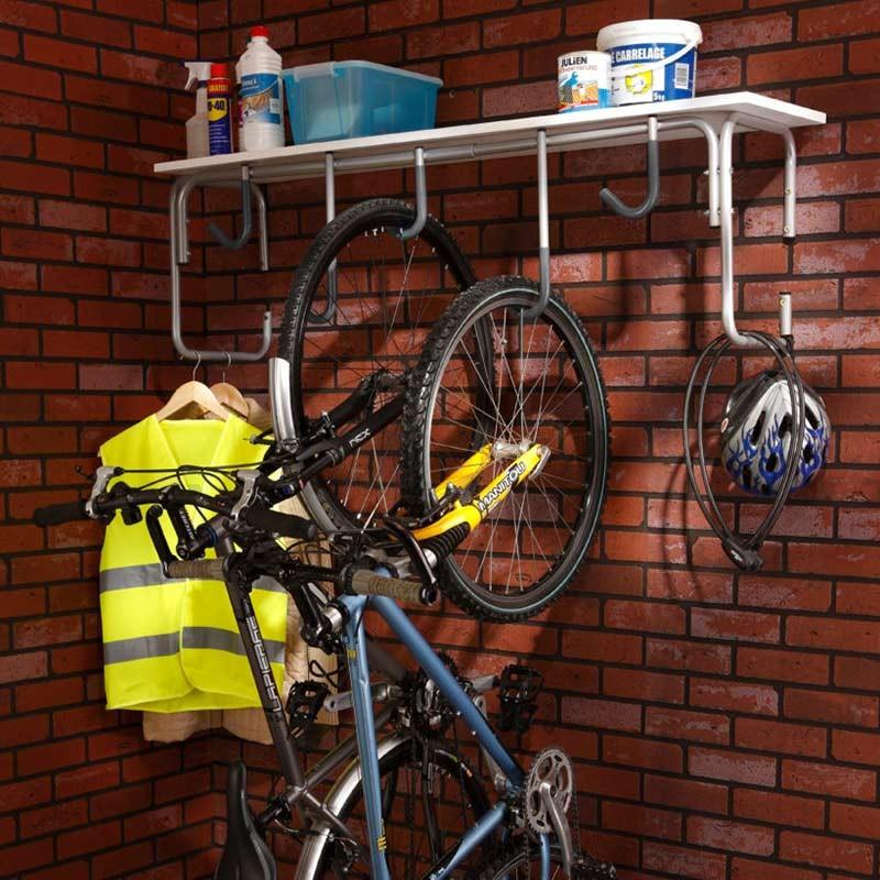 Support à vélos mural en acier