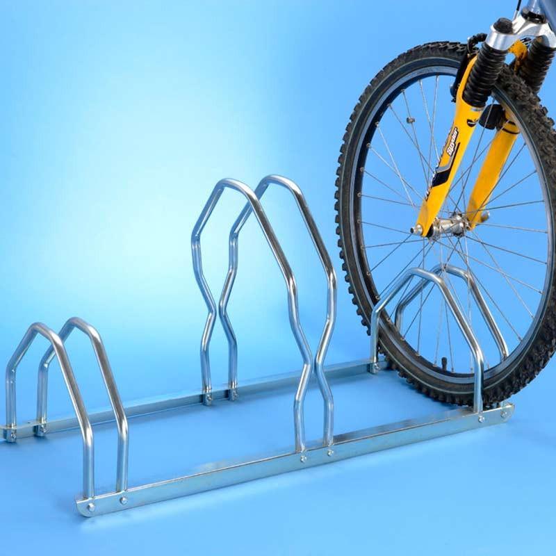 Râtelier pour 3 vélos sur 2 niveaux en acier zingué