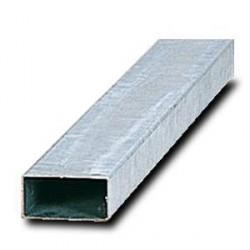 Poteau rectangle 80x40mm enacier galvanisé avecobturateur