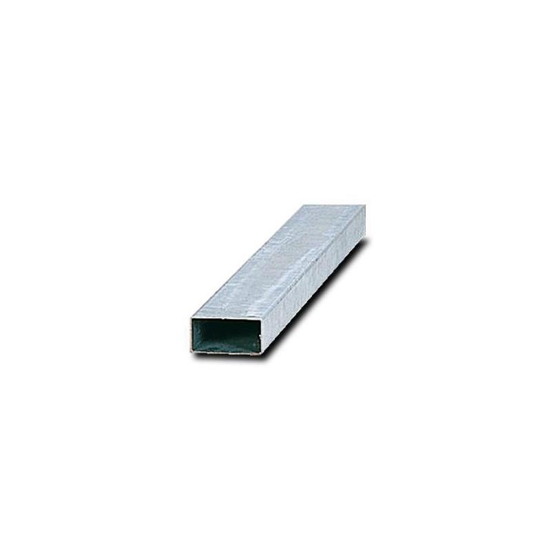 Poteau rectangle pour panneau en acier galvanisé avec obturateur