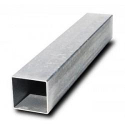 Poteau carré 80x80x2mm enacier galvanisé avecobturateur
