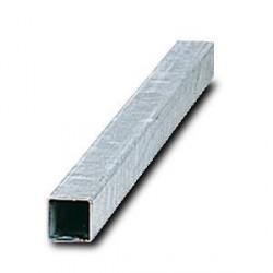 Poteau carré 40x40mm enacier galvanisé avecobturateur