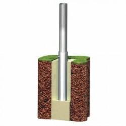 Fourreau support rond Ø 60 mm en acier galvanisé