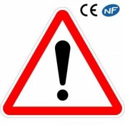 Panneau Autres dangers (A14) visuel point d'exclamation