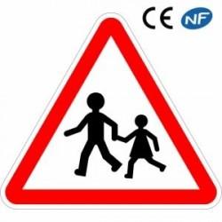 Panneau routier enfants a proximité danger (A13a)