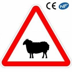 Panneau designalisation passage d'animaux domestiques (A15a2)