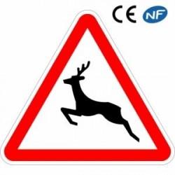 Panneau designalisation passage d'animaux sauvages (A15b)