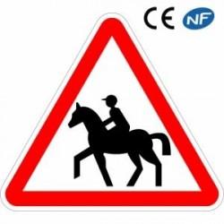 Panneau designalisation traversée de cavaliers (A15c)