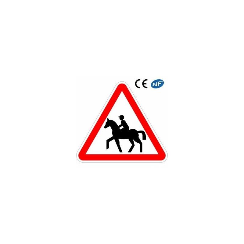 Panneau designalisation danger : passage de cavaliers (A15c)