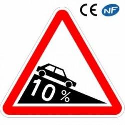 Panneau designalisation signalant unedescente dangereuse (A16)