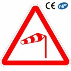 Panneau aluminium Danger Vent fort latéral (A24)