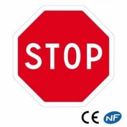 Panneau deroute STOP enaluminium (Ab4)
