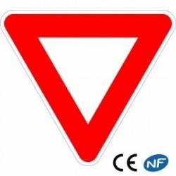 Panneau deroute Cédez lepassage enaluminium (Ab3)