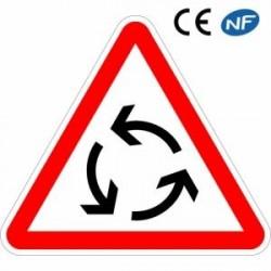 Panneau decirculation carrefour àsens giratoire (AB25)
