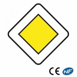 Panneau de circulation indiquant une route prioritaire (Ab6)
