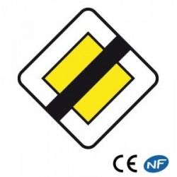 Panneau de circulation indiquant une fin deroute prioritaire (Ab7)