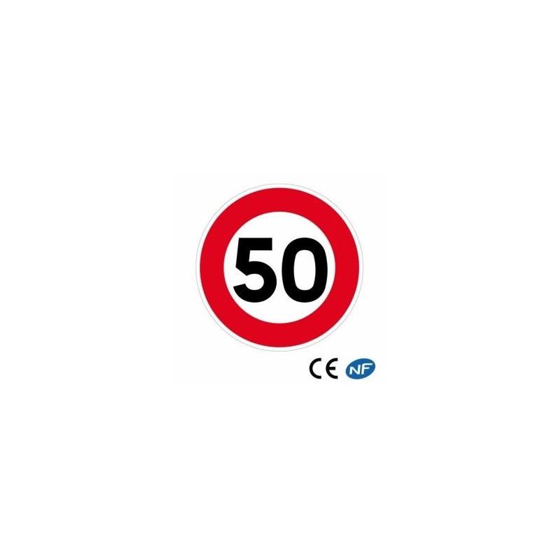 Panneau de circulation LIMITATION DE VITESSE à 50 KM (B14)