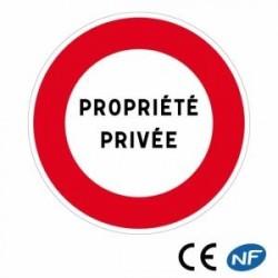 Panneau signalant unePROPRIÉTÉ PRIVÉE PERSONNALISABLE (B19)