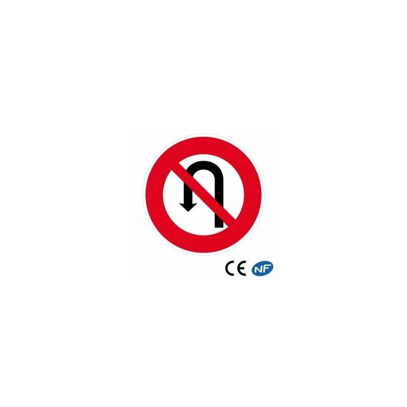 Panneau de circulation interdiction defaire demi-tour (B2c)