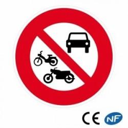 Panneau routier d'accès interdit à tous les véhicules à moteur (B7b)
