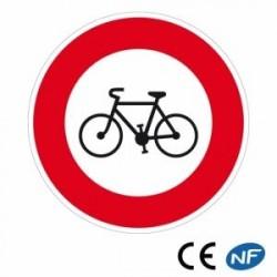 Panneau designalisation d'accès interdit auxcycles (B9b)